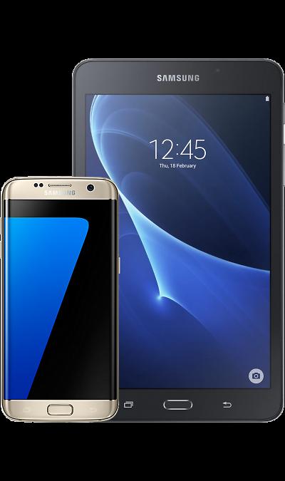 все цены на Samsung Смартфон Samsung Galaxy S7 edge Gold + Планшет Galaxy Tab A 7.0 онлайн