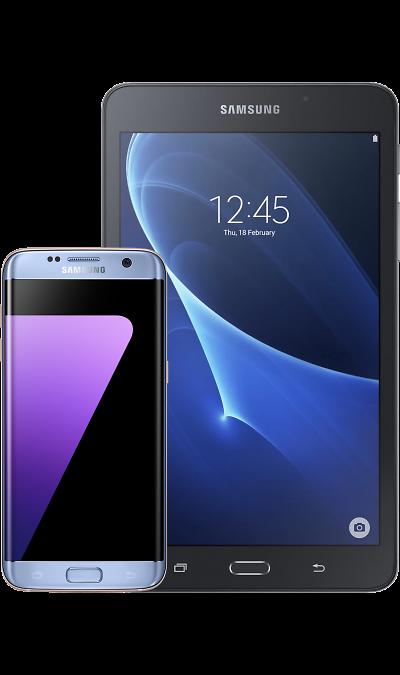 Смартфон Samsung Galaxy S7 edge Blue + Планшет Galaxy Tab A 7.0Смартфоны<br><br>