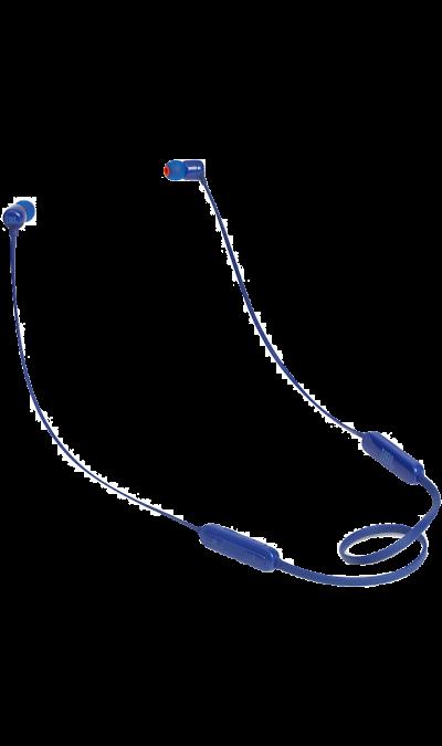 JBL T110BTНаушники и гарнитуры<br>Поддержка Bluetooth.<br>Поддержка технологии Bluetooth позволяет передавать потоковую музыку в высоком качестве с мобильных устройств. Источником звука может быть мобильный телефон, планшетное устройство или ноутбук - эта модель сможет с ним работать.<br><br>Кнопки управления звонками и музыкой.<br>Управляйте воспроизведением музыки и отвечайте на звонки с помощью кнопок и микрофона, удобно расположенных на проводе.<br><br>Colour: Голубой