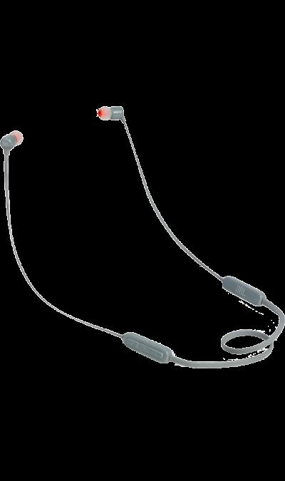 JBL T110BTНаушники и гарнитуры<br>Поддержка Bluetooth.<br>Поддержка технологии Bluetooth позволяет передавать потоковую музыку в высоком качестве с мобильных устройств. Источником звука может быть мобильный телефон, планшетное устройство или ноутбук - эта модель сможет с ним работать.<br><br>Кнопки управления звонками и музыкой.<br>Управляйте воспроизведением музыки и отвечайте на звонки с помощью кнопок и микрофона, удобно расположенных на проводе.<br><br>Colour: Серый