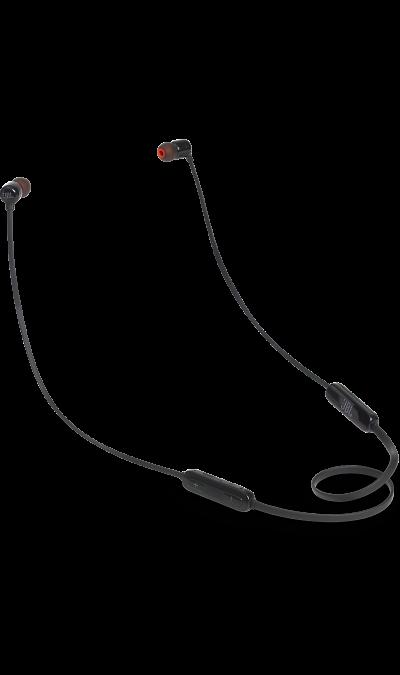 JBL T110BTНаушники и гарнитуры<br>Поддержка Bluetooth.<br>Поддержка технологии Bluetooth позволяет передавать потоковую музыку в высоком качестве с мобильных устройств. Источником звука может быть мобильный телефон, планшетное устройство или ноутбук - эта модель сможет с ним работать.<br><br>Кнопки управления звонками и музыкой.<br>Управляйте воспроизведением музыки и отвечайте на звонки с помощью кнопок и микрофона, удобно расположенных на проводе.<br><br>Colour: Черный
