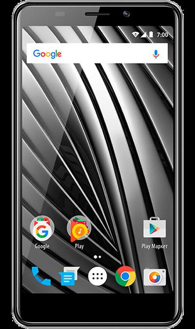 VERTEX Impress RazorСмартфоны<br>2G, 3G, 4G, Wi-Fi; ОС Android; Дисплей сенсорный емкостный 16,7 млн цв. 5; Камера 8 Mpix, AF; Разъем для карт памяти; MP3, FM,  GPS; Время работы 62 ч. / 7.0 ч.; Вес 156 г.<br><br>Colour: Серый