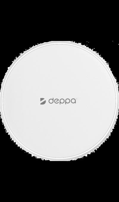 Зарядное устройство беспроводное Deppa Qi Fast Charger 10rWЗарядные устройства<br>Просто, как только возможно.<br>Fast Charger поможет избавиться от лишних проводов на столе. Смартфон начнет заряжаться автоматически, достаточно положить его на зарядную панель<br><br>Быстрый заряд.<br> Зарядное устройство от Deppa способно зарядить ваш смартфон в два раза быстрее большинства обычных беспроводных зарядных устройств.<br><br> Для моделей телефонов с поддержкой быстрой беспроводной зарядки (Apple iPhone 8, X; Samsung Galaxy Note 5, S6 edge/Duos/Plus, ...<br><br>Colour: Белый