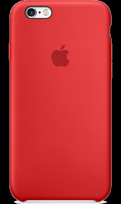 Чехол-крышка Apple MKY32ZM для iPhone 6/6s, силикон, красныйЧехлы и сумочки<br>Силиконовый чехол Apple плотно прилегает к кнопкам управления громкостью и режима сна. Он точно повторяет контуры iPhone 6s и iPhone 6, благодаря чему телефон сохраняет свой тонкий профиль. Мягкая внутренняя поверхность чехла, выполненная из микроволокна, защитит корпус вашего iPhone. А его внешняя силиконовая поверхность очень приятна на ощупь.<br><br>Colour: Красный
