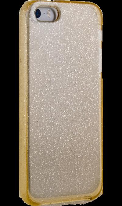 New Level Чехол-крышка New Level для Apple iPhone 5s/SE, силикон, золотистый аксессуар чехол ibox blaze для apple iphone 5 5s se pink