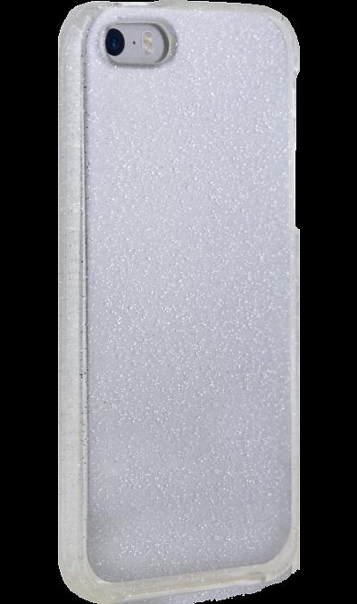 New Level Чехол-крышка New Level для Apple iPhone 5s/SE, силикон, серебристый аксессуар чехол ibox blaze для apple iphone 5 5s se pink