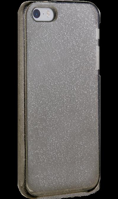 Чехол-крышка New Level для Apple iPhone 5s/SE, силикон, черныйЧехлы и сумочки<br>Чехол поможет не только защитить ваш iPhone 5s/SE от повреждений, но и сделает обращение с ним более удобным, а сам аппарат будет выглядеть еще более оригинальным.<br>