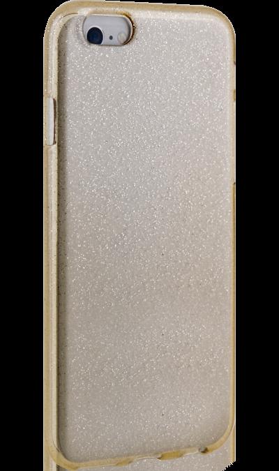 Чехол-крышка New Level для Apple iPhone 6/6s, силикон, золотистыйЧехлы и сумочки<br>Чехол поможет не только защитить ваш iPhone 6/6s от повреждений, но и сделает обращение с ним более удобным, а сам аппарат будет выглядеть еще более оригинальным.<br>