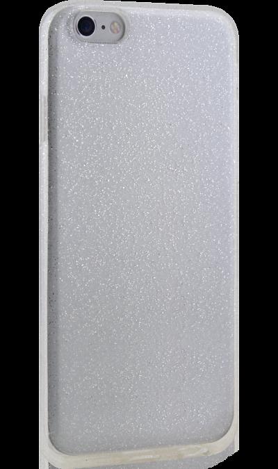 New Level Чехол-крышка New Level для Apple iPhone 6/6s, силикон, серебристый apple apple для apple iphone 6s задняя крышка силикон синий