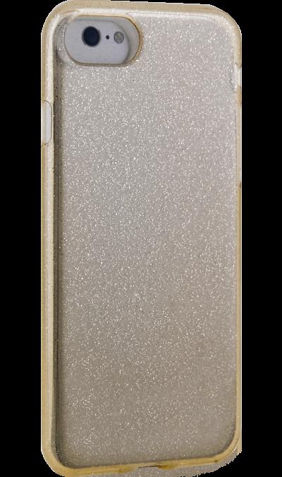 Чехол-крышка New Level для Apple iPhone 7/8, силикон, золотистыйЧехлы и сумочки<br>Чехол поможет не только защитить ваш iPhone 7/8 от повреждений, но и сделает обращение с ним более удобным, а сам аппарат будет выглядеть еще более оригинальным.<br>