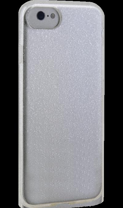 Чехол-крышка New Level для Apple iPhone 7/8, силикон, серебристыйЧехлы и сумочки<br>Чехол поможет не только защитить ваш iPhone 7/8 от повреждений, но и сделает обращение с ним более удобным, а сам аппарат будет выглядеть еще более оригинальным.<br>