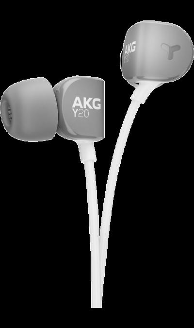 AKG Y 20 Grey, (серый)Наушники и гарнитуры<br>Ультракомфортные вставные наушники.<br>Удобные внутриканальные наушники, обеспечивающие фирменное звучание AKG. Хорошо известная ка производитель наушников для студийных специалистов, компания AKG разработала внутриканальные стереонаушники для тех, кто узнает звучание качества, когда они его слышат и чувствуют, - вне зависимости от прошедшего количества часов прослушивания. AKG Y20 - это не только мощные 8-мм динамики, обеспечивающие высококачественное звучание, но и наклонные вкладыши и ...<br><br>Colour: Серый