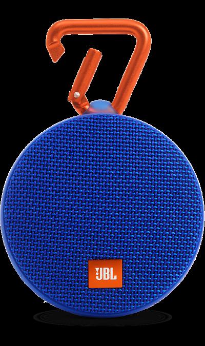JBL Clip 2 BlueПортативная акустика<br>Подключай и слушай<br><br>JBL Clip 2 - ультра-легкая, ультра-прочная и ультра-мощная портативная акустическая система. Полностью водонепроницаемый JBL Clip 2 способен воспроизводить музыку до 8 часов в непрерывном режиме, позволяя брать любимые песни с собой в любое путешествие - по земле или воде. Воспроизводите музыку по беспроводной Bluetooth-связи или подключайте его к смартфону или планшету с помощью аудио-кабеля. Подключайте два Clip 2 по беспроводной связи для усиления звучания. ...<br><br>Colour: Синий