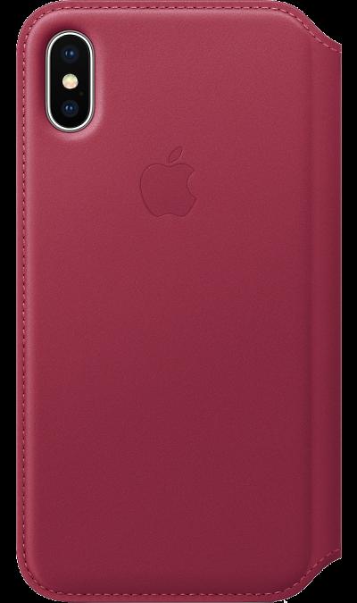 Чехол-книжка Apple MQRX2ZM для Apple iPhone X, кожа, розовыйЧехлы и сумочки<br>Кожаный чехол, изготовленный из специально обработанной кожи европейского производства, приятен на ощупь, роскошно выглядит, точно повторяет контуры iPhone X и надёжно его защищает. Когда чехол закрыт, iPhone X находится в режиме сна. А если его открыть, телефон сразу вернётся в активное состояние. Мягкая подкладка из микрофибры обеспечивает дополнительную защиту вашего iPhone, а в специальном отделении удобно хранить чеки, купюры и банковские карты. Чехол не придётся снимать даже во время ...<br><br>Colour: Розовый