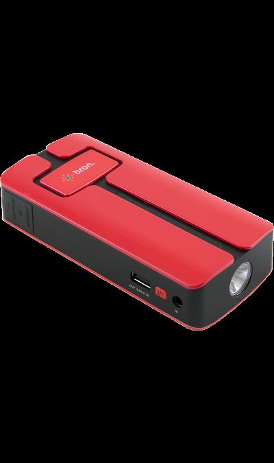 Аккумулятор Bron Car, Li-Ion, 11000 мАч, красный (портативный)Аккумуляторы внешние<br>Представляем мультифункциональный внешний аккумулятор с лампой аварийной сигнализации и светодиодным фонарем. Устройство служит для зарядки аккумуляторов смартфонов от USB порта, а также ноутбуков, имея набор из переходников, подходящих для большинства известных брендов. Кроме того, благодаря внедрению новейших технологий, устройство может обеспечить зарядку полностью разряженного аккумулятора автомобиля, мотоцикла, катера и других транспортных средств с объемом двигателя до 4 ...<br><br>Colour: Красный
