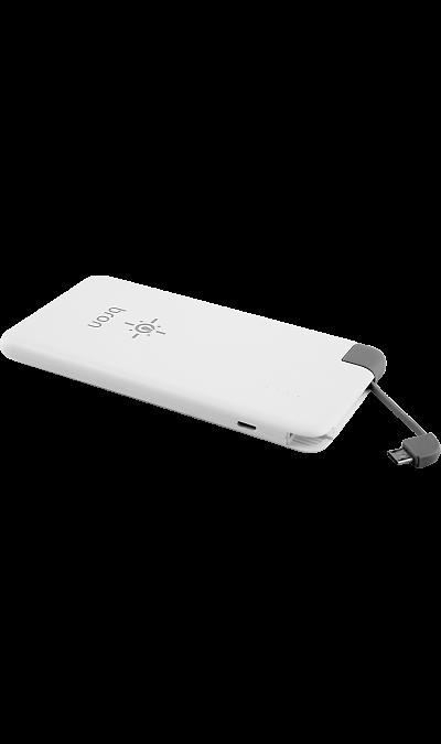 Аккумулятор Bron G400, Li-Ion, 4000 мАч, белый (портативный)Аккумуляторы внешние<br>Резервный аккумулятор Bron- устройство, предназначенное для зарядки портативных устройств без помощи электрической сети. Особенно актуален для путешественников и туристов в местах, где невозможен или ограничен доступ к электроэнергии. Резервный аккумулятор подходит для портативных устройств, таких как смартфоны, планшеты, мобильные телефоны и МР3-плееры.<br><br>Colour: Белый