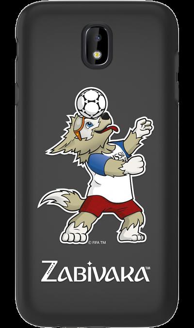 Deppa Чехол-крышка Deppa FIFA Забивака 1 для Samsung Galaxy J7 (2017), полиуретан, черный чехол deppa art case и защитная пленка для samsung galaxy s6 патриот крым ваш