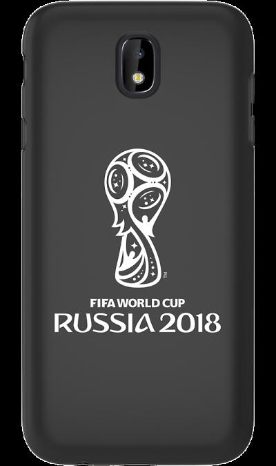 Deppa Чехол-крышка Deppa FIFA Эмблема для Samsung Galaxy J7 (2017), полиуретан, черный чехол deppa art case и защитная пленка для samsung galaxy s6 патриот крым ваш