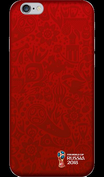 Чехол-крышка Deppa FIFA для iPhone 6/6s, пластик, красныйЧехлы и сумочки<br>Чехол поможет не только защитить ваш iPhone 6/6s от повреждений, но и сделает обращение с ним более удобным, а сам аппарат будет выглядеть еще более элегантным.<br><br>Colour: Красный