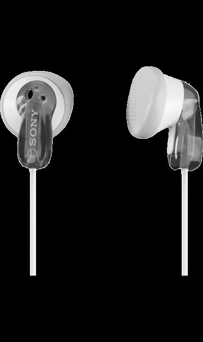 Sony MDR-E9AНаушники и гарнитуры<br>Неодимовый магнит - 13,5-мм мембрана для мощного звучания басов.<br>Подходит к аудиоплееру - Используйте наушники с плеером Walkman, iPod или другим MP3-плеером.<br>1,2-м шнур - Прочный и легкий 1,2-м шнур.<br>Вкладыши прилагаются - Прилагаются 2 набора вкладышей для дополнительного удобства.<br><br>Colour: Серебристый
