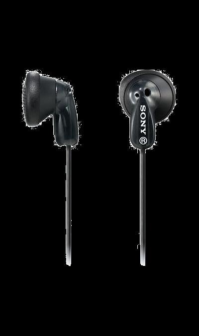 Sony MDR-E9AНаушники и гарнитуры<br>Неодимовый магнит - 13,5-мм мембрана для мощного звучания басов.<br>Подходит к аудиоплееру - Используйте наушники с плеером Walkman, iPod или другим MP3-плеером.<br>1,2-м шнур - Прочный и легкий 1,2-м шнур.<br>Вкладыши прилагаются - Прилагаются 2 набора вкладышей для дополнительного удобства.<br><br>Colour: Черный