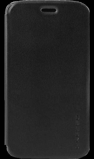 цена на Gresso Чехол-книжка Gresso Atlant для Moto C, кожзам, черный