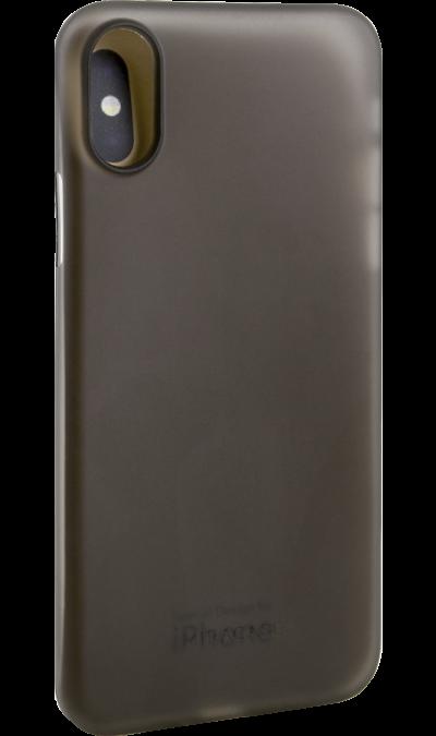 Чехол-крышка Miracase MP-8802 для iPhone X, полиуретан, серый