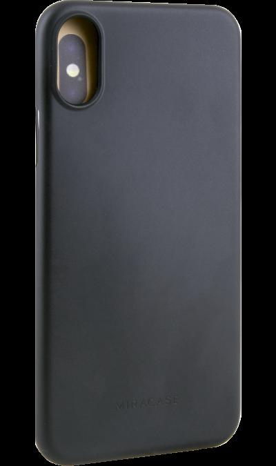 Чехол-крышка Miracase MP-8802  для iPhone X, полиуретан, черныйЧехлы и сумочки<br>Чехол поможет не только защитить ваш iPhone X от повреждений, но и сделает обращение с ним более удобным, а сам аппарат будет выглядеть еще более элегантным.<br><br>Colour: Черный
