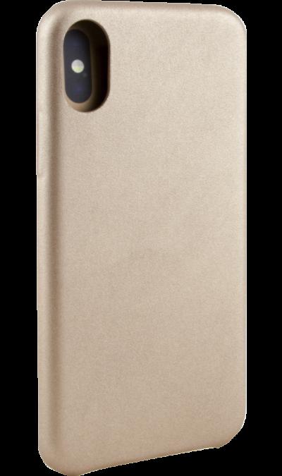 Чехол-крышка Miracase MP-8804  для iPhone X, полиуретан, золотистыйЧехлы и сумочки<br>Чехол поможет не только защитить ваш iPhone X от повреждений, но и сделает обращение с ним более удобным, а сам аппарат будет выглядеть еще более элегантным.<br><br>Colour: Золотистый