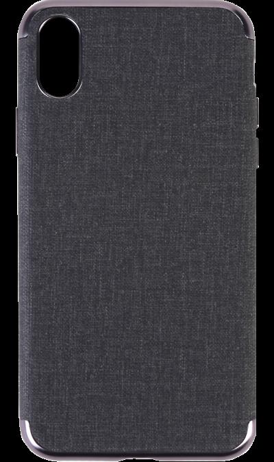 Чехол-крышка Miracase MP-8037 для iPhone X, полиуретан, черный фото