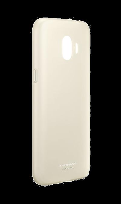 Samsung Чехол-крышка Samsung для Galaxy J2 (2018), пластик, золотистый чехол для samsung galaxy core gt i8262