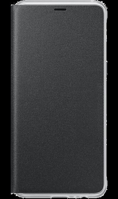 Чехол-книжка Samsung для Galaxy A8, поликарбонат, черныйЧехлы и сумочки<br>Оригинальный чехол обеспечит надежную защиту задней крышке и торцам устройства. Не сильно увеличивает размеры смартфона. Оснащен необходимыми отверстиями под порты и камеру.<br><br>Colour: Черный