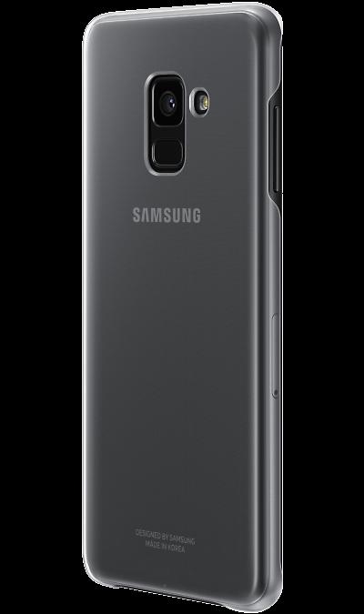 Чехол-крышка Samsung для Galaxy A8, силикон, прозрачныйЧехлы и сумочки<br>Эластичный и прочный чехол, выполненный из силикона. Легкий и тонкий, он практически не изменяет размеры телефона, плотно охватывая и надежно удерживая его внутри. Отверстия идеально совпадают с разъемами и элементами управления. Таким образом, предотвращается преждевременный износ смартфона, а пользователю обеспечивается максимальный комфорт.<br>