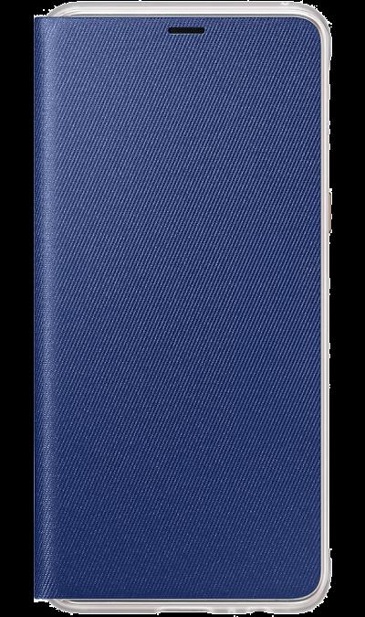 Чехол-книжка Samsung для Galaxy A8, поликарбонат, синийЧехлы и сумочки<br>Оригинальный чехол обеспечит надежную защиту задней крышке и торцам устройства. Не сильно увеличивает размеры смартфона. Оснащен необходимыми отверстиями под порты и камеру.<br><br>Colour: Синий