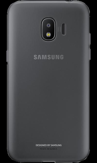 Samsung Чехол-крышка Samsung для Galaxy J2, полиуретан, черный samsung чехол крышка samsung для galaxy a5 2017 полиуретан прозрачный