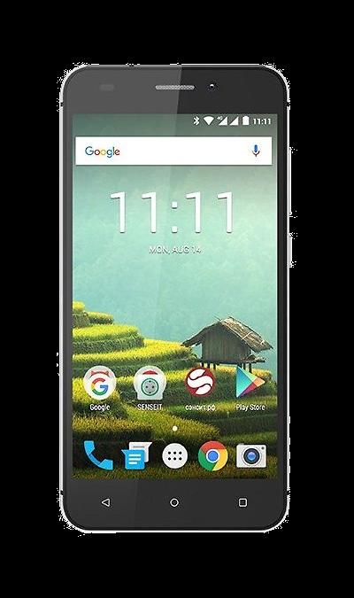 Смартфон SENSEIT T100Смартфоны<br>2G, 3G, 4G, Wi-Fi; ОС Android; Дисплей сенсорный емкостный 16,7 млн цв. 5; Камера 8 Mpix, AF; Разъем для карт памяти; MP3, FM,  GPS; Вес 175 г.<br><br>Colour: Черный