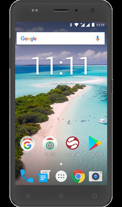 Смартфон SENSEIT T250 Black (черный)Смартфоны<br>2G, 3G, 4G, Wi-Fi; ОС Android; Дисплей сенсорный емкостный 16,7 млн цв. 5.2; Камера 8 Mpix, AF; Разъем для карт памяти; MP3, FM,  GPS / ГЛОНАСС; Вес 185 г.<br><br>Colour: Черный