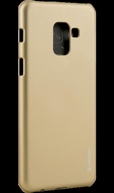Чехол-крышка Deppa Air Case для Samsung Galaxy A8, пластик, золотистыйЧехлы и сумочки<br>Чехол поможет не только защитить ваш смартфон от повреждений, но и сделает обращение с ним более удобным, а сам аппарат будет выглядеть еще более элегантным.<br><br>Colour: Золотистый