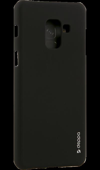 Чехол-крышка Deppa Air Case для Samsung Galaxy A8, пластик, черныйЧехлы и сумочки<br>Чехол поможет не только защитить ваш смартфон от повреждений, но и сделает обращение с ним более удобным, а сам аппарат будет выглядеть еще более элегантным.<br><br>Colour: Черный