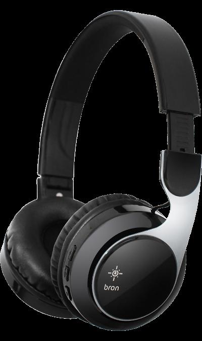 Гарнитура Bron HDW05 Black (черная)Наушники и гарнитуры<br>Bluetooth гарнитура Bron невероятно удобна- небольшая и легкая, и к тому же подключается без проводов. Ее можно носить целый день- заряда встроенной батареи хватит на 12 часов работы, а мягкие кожаные амбюшуры обеспечат комфорт во время прогулки. Высококачественная акустика доставит вам максимальное удовольствие при прослушивании вашей любимой музыки. Кнопки управления на наушниках позволяют отвечать на звонки, а также регулировать громкость и управлять воспроизведением, не доставая ...<br><br>Colour: Черный