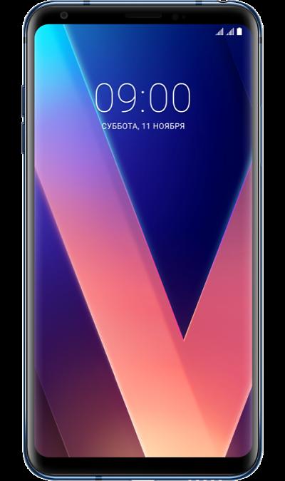 LG V30+ Blue (синий)Смартфоны<br>2G, 3G, 4G, Wi-Fi; ОС Android; Дисплей сенсорный емкостный 16,7 млн цв. 6; Камера 16 Mpix, AF; Разъем для карт памяти; MP3, FM,  GPS; Вес 158 г.<br><br>Colour: Синий