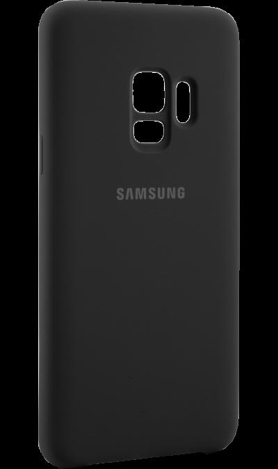 Чехол-крышка Samsung для Galaxy S9, силикон, черныйЧехлы и сумочки<br>Чехол поможет не только защитить ваш смартфон от повреждений, но и сделает обращение с ним более удобным, а сам аппарат будет выглядеть еще более элегантным.<br><br>Colour: Черный