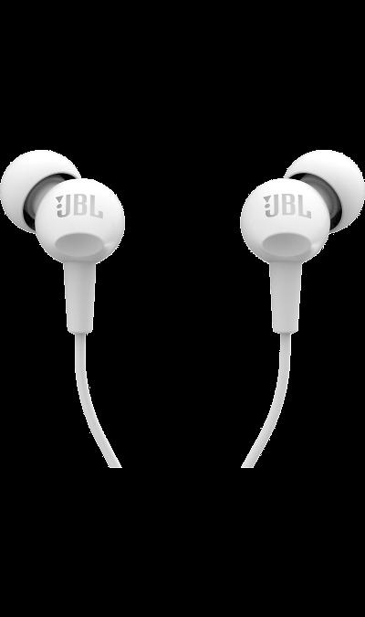Наушники JBL C100SIUНаушники и гарнитуры<br>Стильные наушники, которые обеспечивают высококачественное звучание и надежно держатся в ухе.<br><br>Colour: Белый