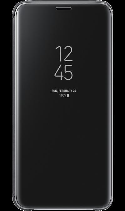 Чехол-книжка Samsung для Galaxy S9, полиуретан, черныйЧехлы и сумочки<br>Чехол поможет не только защитить ваш смартфон от повреждений, но и сделает обращение с ним более удобным, а сам аппарат будет выглядеть еще более элегантным.<br><br>Colour: Черный