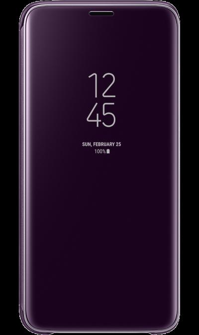 Samsung Чехол-книжка Samsung для Galaxy S9, полиуретан, фиолетовый samsung чехол книжка samsung для samsung galaxy a5 2017 полиуретан золотистый