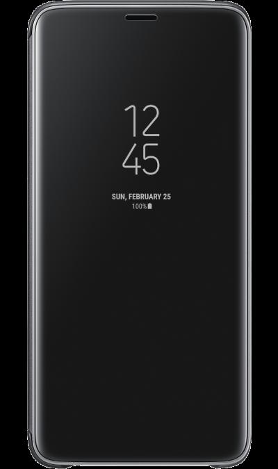 Чехол-книжка Samsung для Galaxy S9+, полиуретан, черныйЧехлы и сумочки<br>Чехол поможет не только защитить ваш смартфон от повреждений, но и сделает обращение с ним более удобным, а сам аппарат будет выглядеть еще более элегантным.<br><br>Colour: Черный