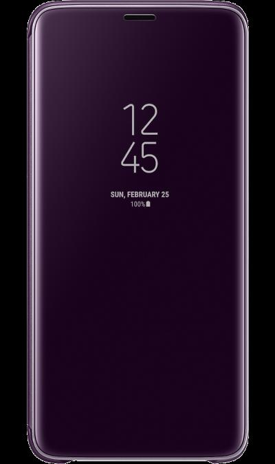 Чехол-книжка Samsung для Galaxy S9+, полиуретан, фиолетовыйЧехлы и сумочки<br>Чехол поможет не только защитить ваш смартфон от повреждений, но и сделает обращение с ним более удобным, а сам аппарат будет выглядеть еще более элегантным.<br><br>Colour: Фиолетовый