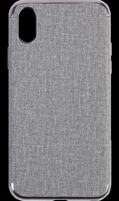 Miracase Чехол-крышка Miracase MP-8037 для iPhone X, полиуретан, серый miracase чехол крышка miracase mp 8037 для iphone 6 6s полиуретан серый