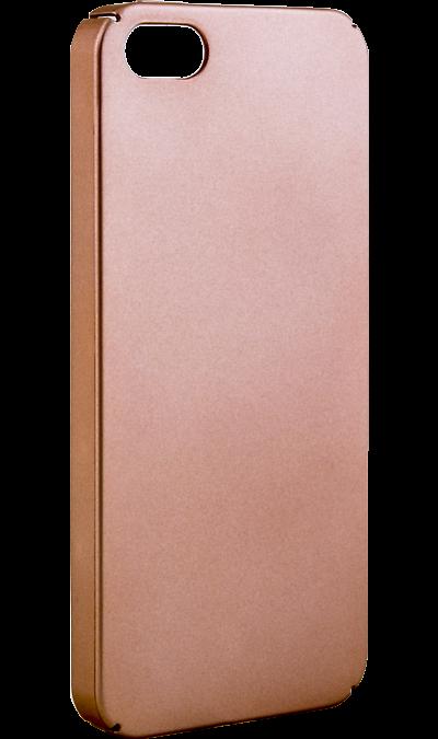 New Level Чехол-крышка New Level для Apple iPhone 5/5s, пластик, золотистый чехол для iphone 5 глянцевый с полной запечаткой printio ember spirit dota 2