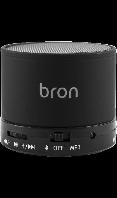 Колонка портативная Bron BTSP1 BlackПортативная акустика<br>Bluetooth колонка Bron может подключаться к смартфону или другому мобильному устройству с помощью интерфейса Bluetooth или по проводу. Колонка создает четкий насыщенный звук с глубокими басами. Встроенный микрофон позволяет использовать устройство в качестве беспроводной гарнитуры громкой связи. Полного заряда аккумулятора достаточно для 10 часов непрерывного прослушивания музыки. Кнопки управления позволяют отвечать на звонки, а также регулировать громкость и управлять воспроизведением, не доставая ...<br><br>Colour: Черный